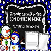 https://www.teacherspayteachers.com/Product/French-La-vie-secrete-des-bonhommes-de-neige-Snowmen-at-Night-Writing-Template-2310872