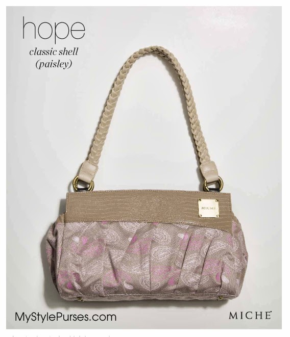 Miche Classic Hope Paisley Shell Canvas Pink//Taupe New in Package
