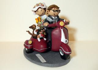 orme magiche sposini torta nuziale cake topper matrimonio scultore modellismo