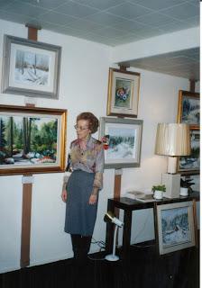 Clémence St-Laurent à une de ses expositions   Toronto, 1986