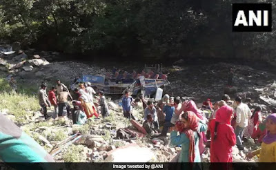 Jammu-Kashmir: 33 killed,17 injured bus falls