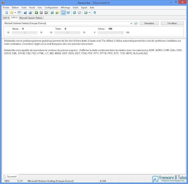 Balabolka : un logiciel pratique pour lire vos fichiers texte à haute voix