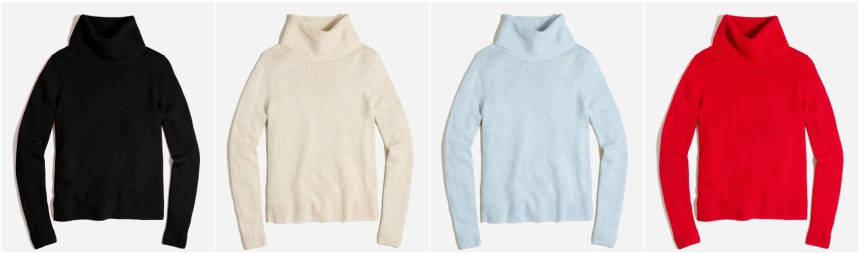 J. Crew Factory Turtleneck Sweater $20 (reg $78)
