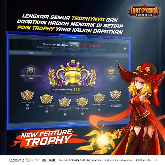 Fitur Baru Sistem Trophy Lost Saga Remastered
