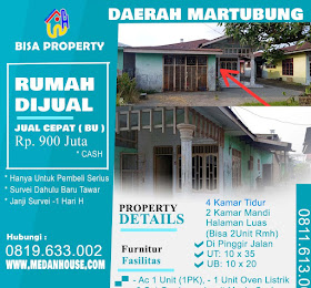 rumah dijual di daerah medan Martubung <del>Rp 950 Juta </del> <price>Rp 900 juta</price> <code>Martubung-1</code>