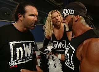 WWE / WWF Wrestlemania X8 -  Hulk Hogan tells Hall and Nash to stay out of his match