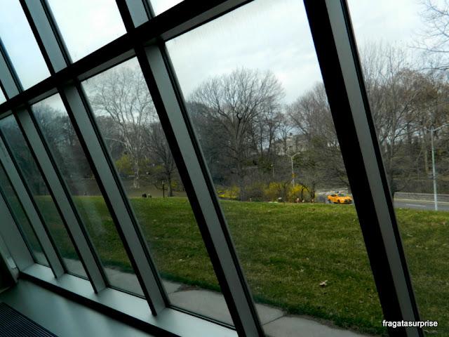 O Central Park visto das vidraças do Metropolitan Museum