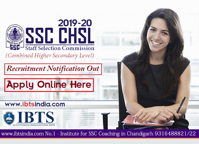 SSC CHSL 2019 Recruitment Notification Out, Apply Online @ssc.nic.in