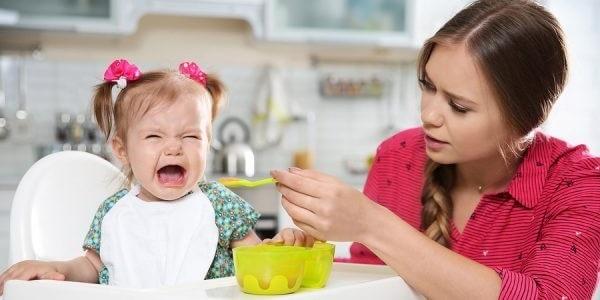 bebê sem apetite
