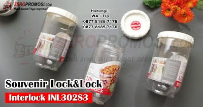 lock n lock interlock 3 toples isi 3pcs special gift set, LOCK&LOCK TOPLES FOOD CANISTER ISI 3 PCS, Food Container set Lock&Lock Promosi