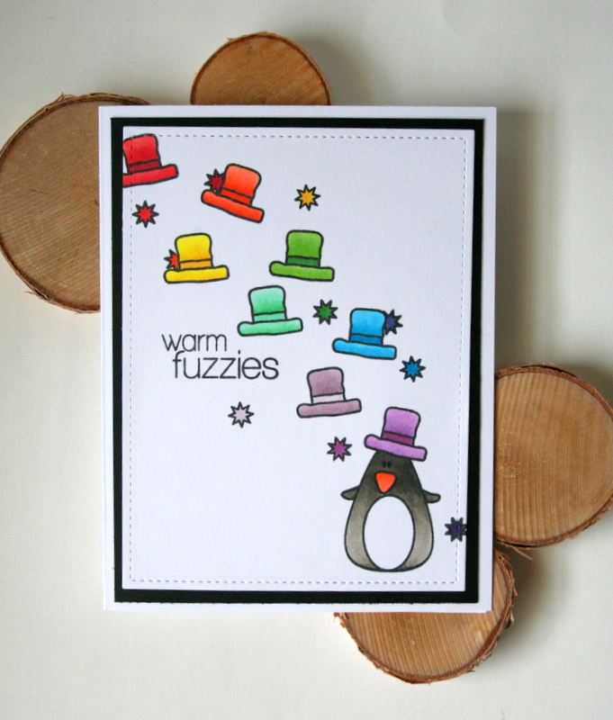 Rainbow Stamped Love Card by Jess Moyer featuring Create a Smile Stamps