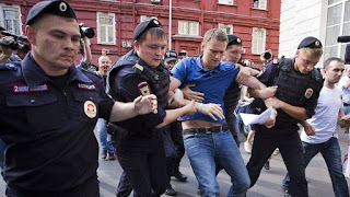 Russian main opposition arrested
