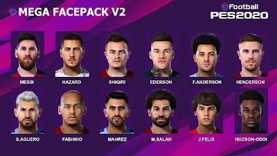 PES 2020 Mega Facepack V2 by Messi Pradeep