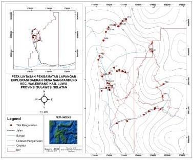 Peta Lintasan dan Pengambilan Sample