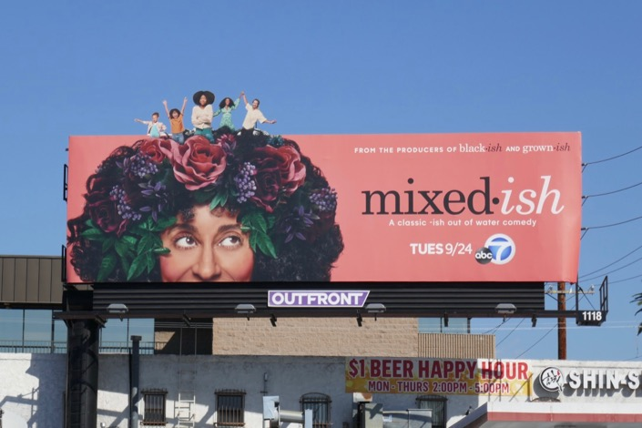 Mixed-ish series launch billboard