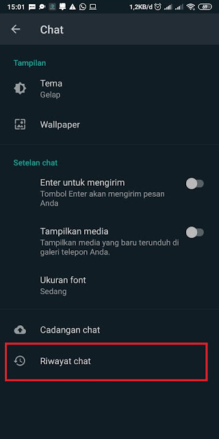 Cara Menyembunyikan Chat di WhatsApp 3