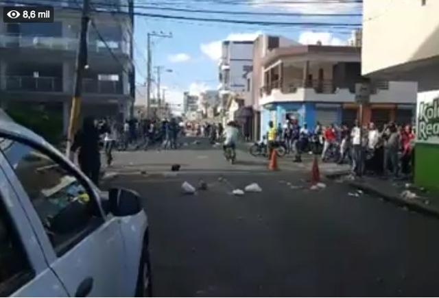 Protestan en SFM tras condena de 5 años a Marlin Martínez