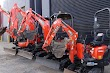 Mini excavators for small construction, civil projects or landscaping