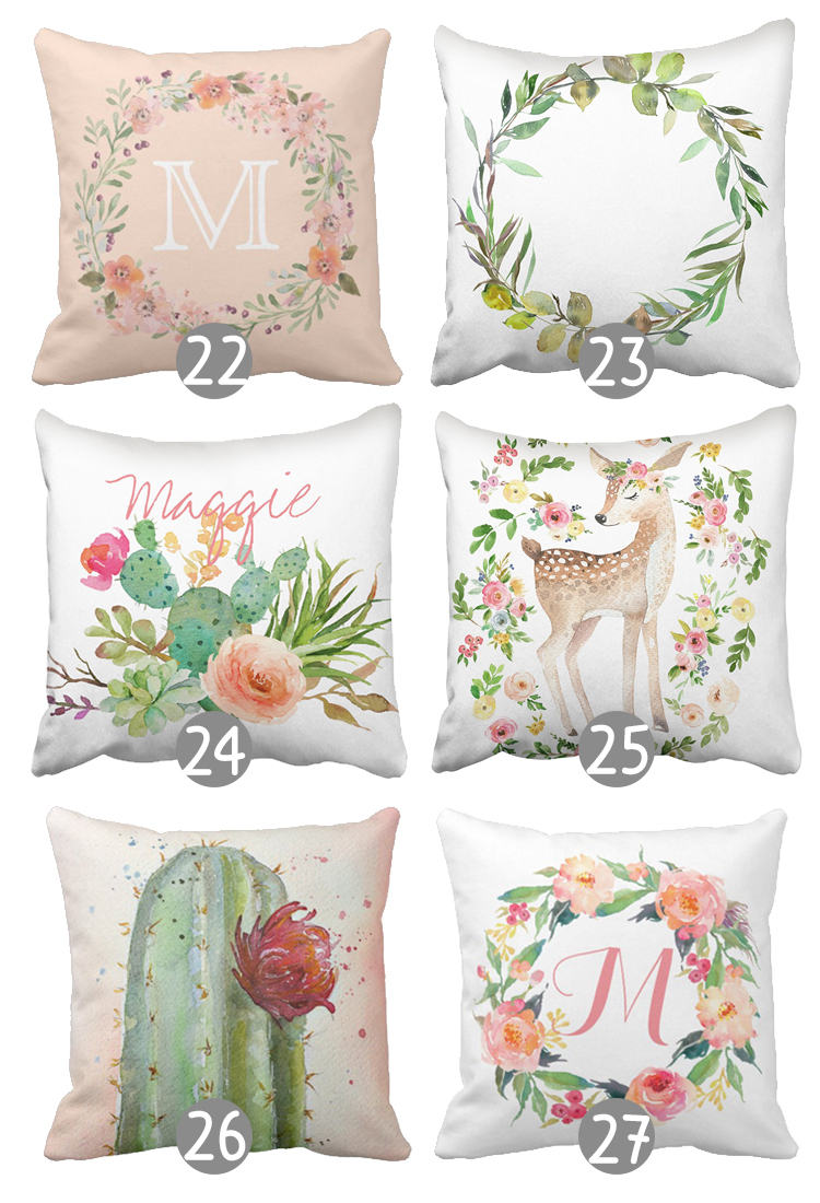 The Craft Patch: 27 Gorgeous Floral Throw Pillow Covers under USD10