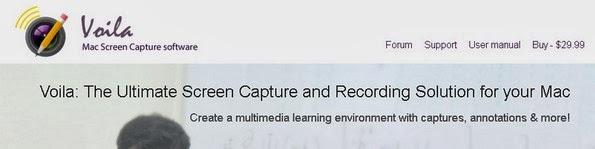 Voila screen capturing tool for Mac