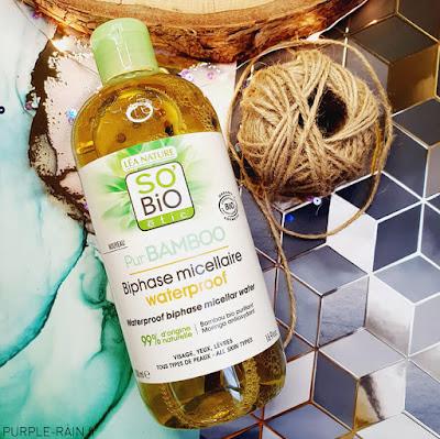 Blog PurpleRain - Eau Micellaire Biphase - So Bio Etic'
