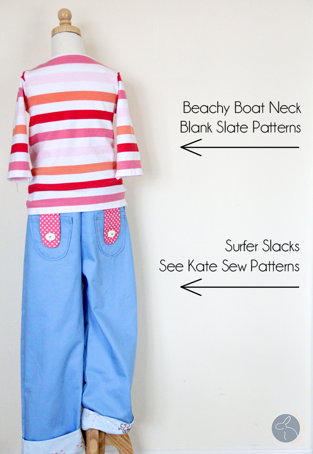 Surfer Slacks and Beachy Boatneck by The Sewing Rabbit at Me Sew Crazy