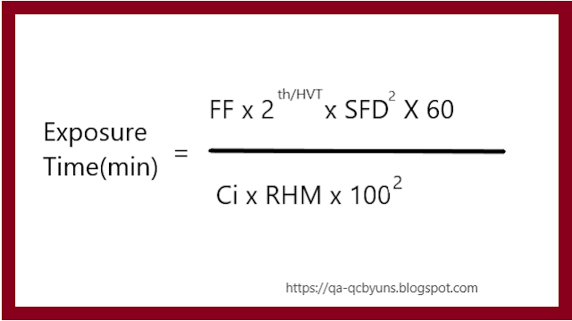 SOME RADIATION CALCULATION FORMULAS AND EXAMPLES