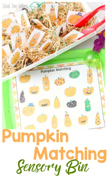 pumpkin match printable activity
