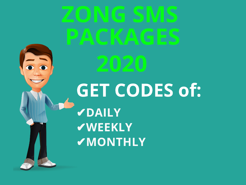 Get Zong only SMS Packages Zong 1 Day SMS Package Daily SMS Package Zong Weekly SMS Package Zong Monthly sms Packages Code update Zong SMS Packages Daily Code