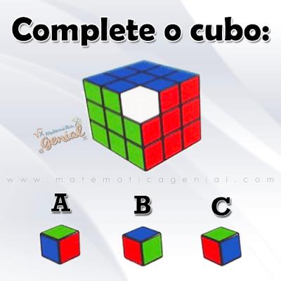 Desafio - Complete o cubo mágico