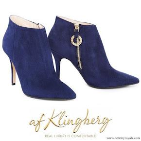 Crown Princess Victoria wore af Klingberg Rakel navy-blue boots