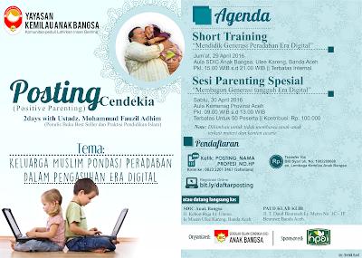 Contoh Brosur Seminar Parenting Format CDR