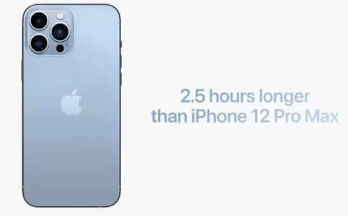iPhone 13 battery capacity increased dramatically