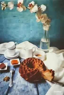 Bundt cake de dulce de batata, carne membrillo y nueces de california - TuvesyyoHago