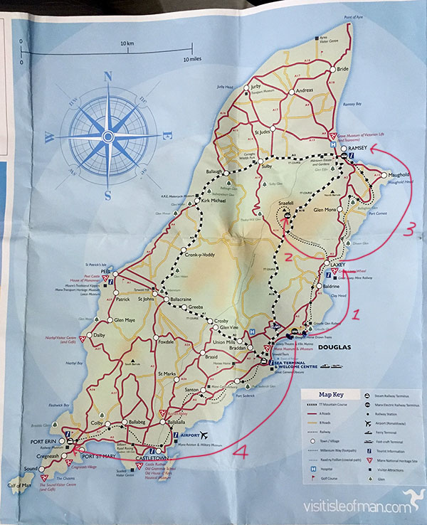 [英國.曼島/馬恩島] 復古交通工具 - 傳統電車體驗 Laxey鎮, Snaefell丘陵以及Ramsey鎮