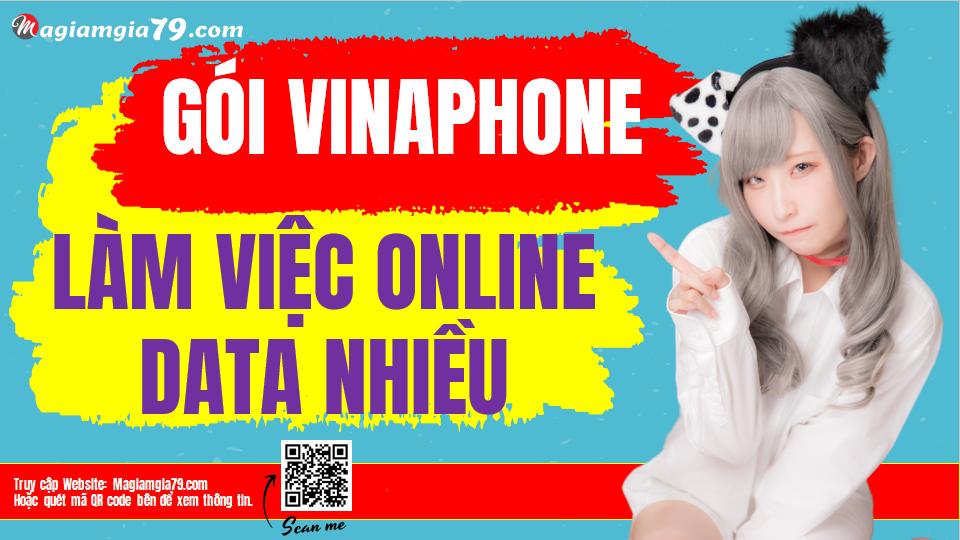 Gói Vinaphone để làm việc Online data nhiều