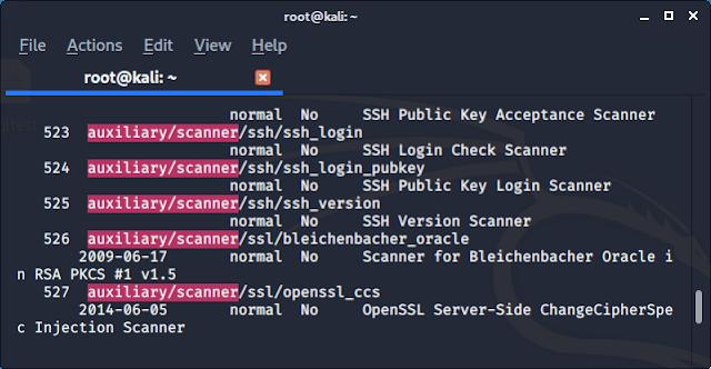 Metasploit framework auxiliary SSH