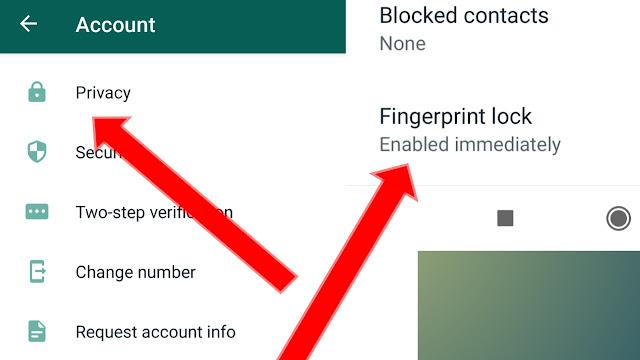 WhatsApp fingerprint lock kaise lagaye, online sujhav, vindravan Patel,
