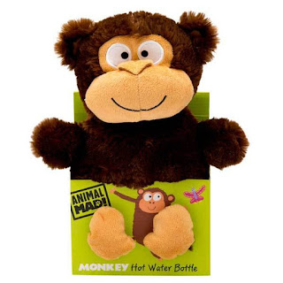 Animal Mad Hot Water Bottle - Milo the Monkey