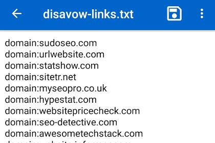 Cara menghapus Backlink Spam menggunakan Google disavow Tool