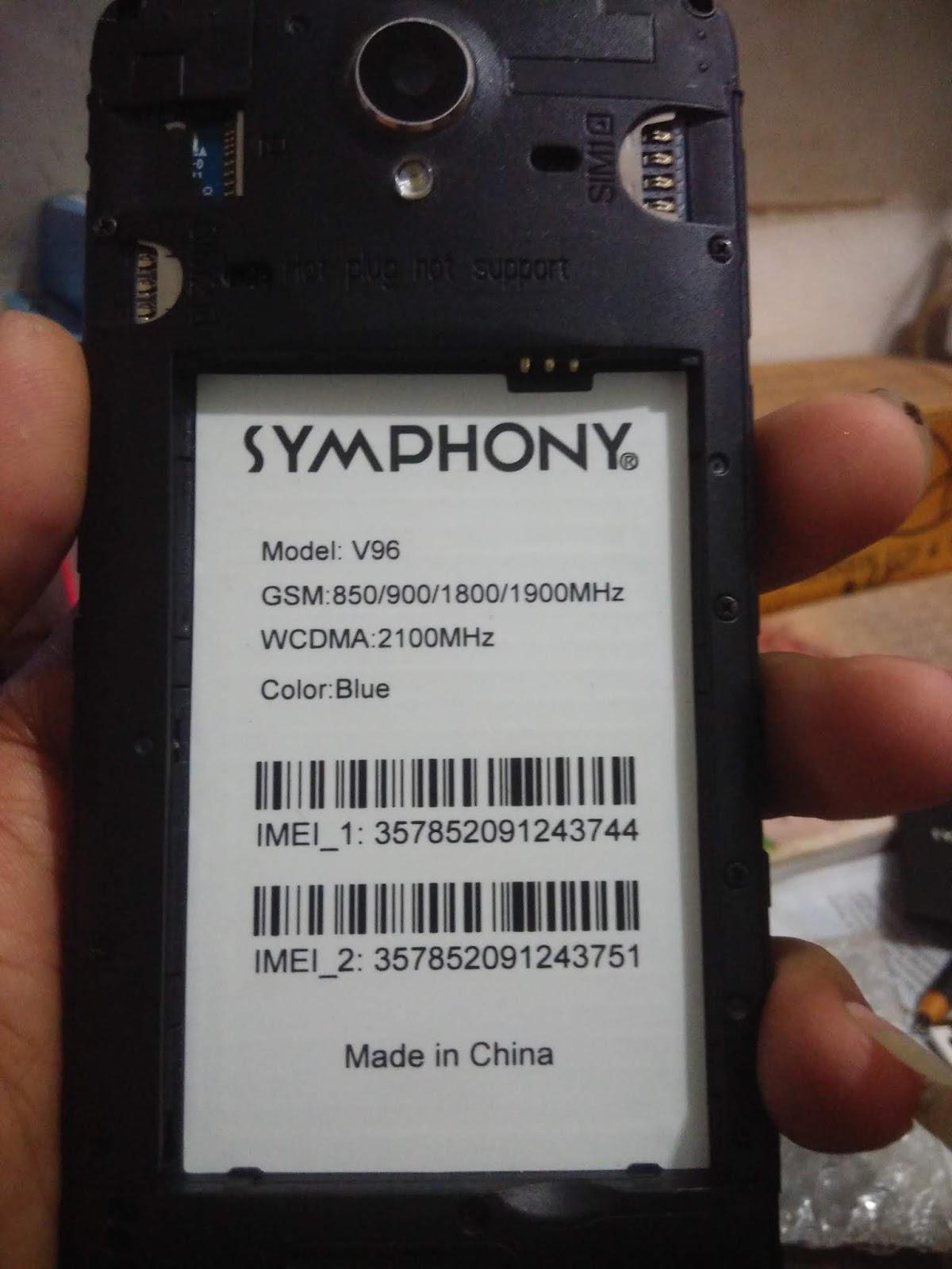 ALO TELECOM DHAKA BANGLADESH: Symphony V96 Hw2 Flash File Fastboot