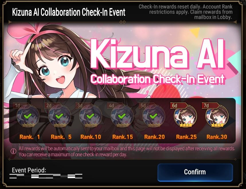 Epic Seven x Kizuna AI daily
