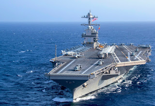 The Gerald R. Ford class is a class of nuclear powered aircraft carriers currently being constructed for the United States Navy. The USS American Carrier Veterans Association named the CVN-78 after former President Ford. The Ford is the largest warship in the world and one of the heaviest carrier ships.