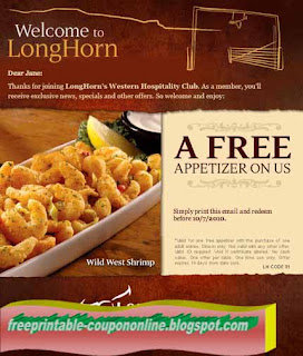 picture regarding Longhorns Printable Coupons titled Coupon codes for longhorn steakhouse 2018 - Becker on the net system