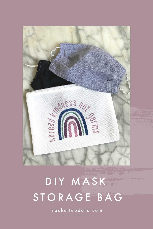 DIY face mask storage bag