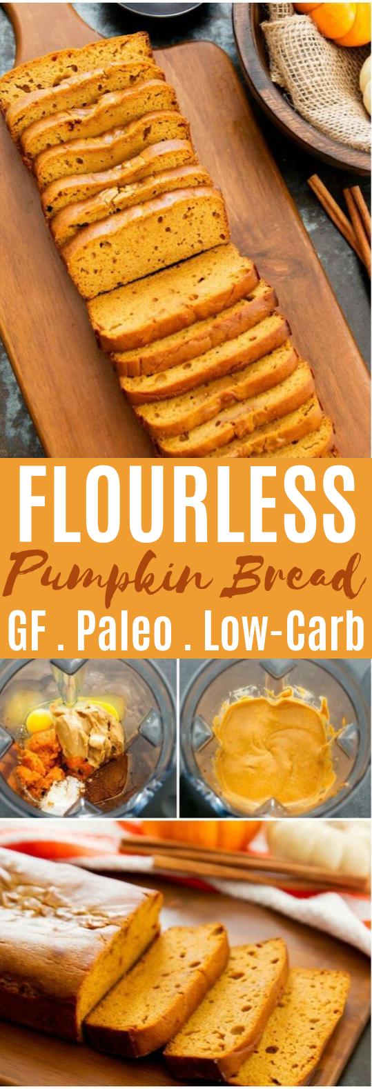 Flourless Pumpkin Bread #healthy #glutenfree