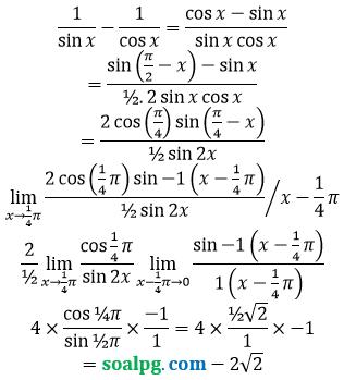 bahas limit trigonometri mendekati pi
