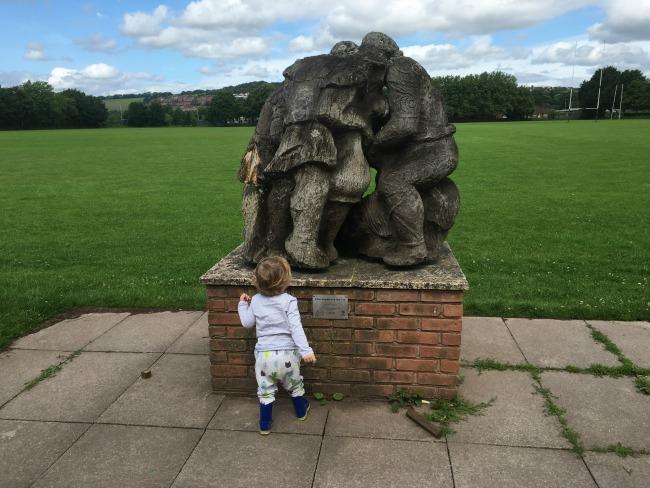 Caerleon-three-romans-and-one-celt-sculpture-gerard-ducret