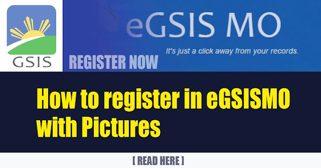How to register in eGSISMO with Pictures
