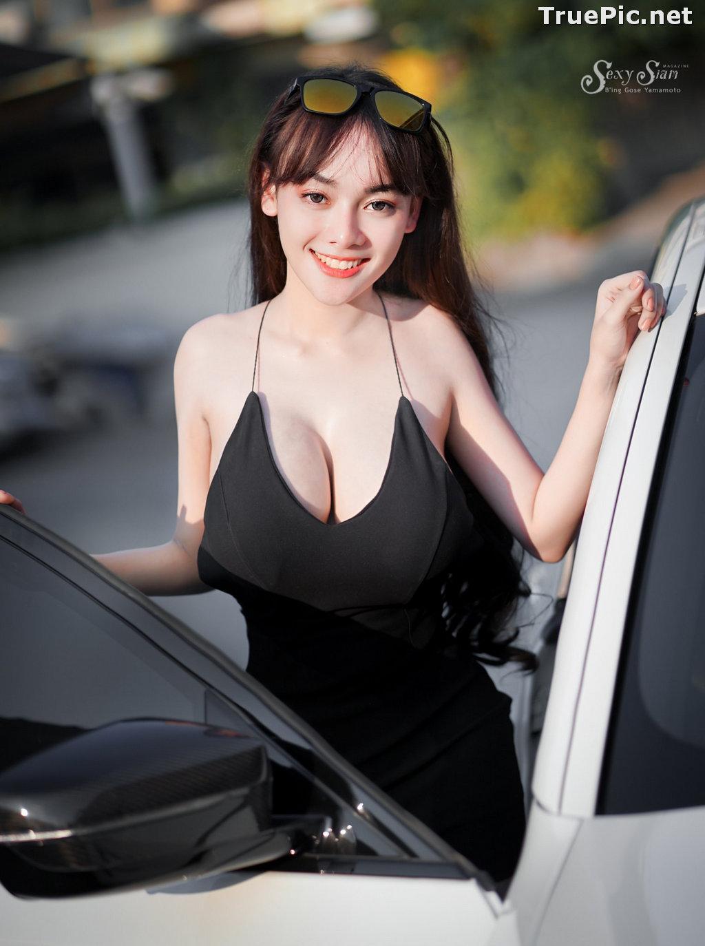 Image Thailand Model - จุ๊ปเปอร์ จุ๊ป - Sexy Black Car Girl - TruePic.net - Picture-8